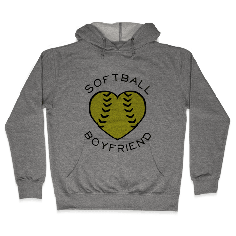 Softball Boyfriend (Baseball Tee) Hooded Sweatshirt
