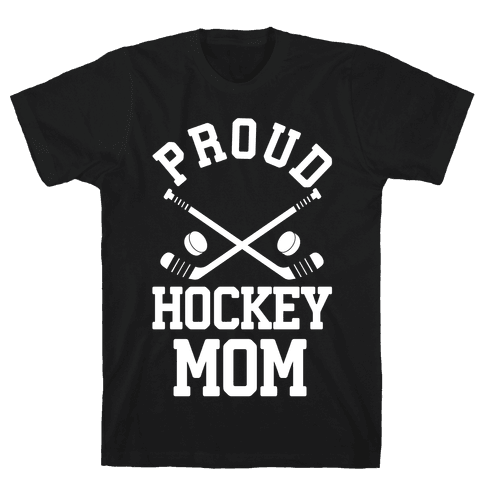 Proud Hockey Mom Mens T-Shirt