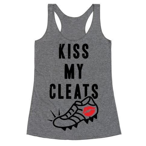 Kiss My Cleats Racerback Tank Top
