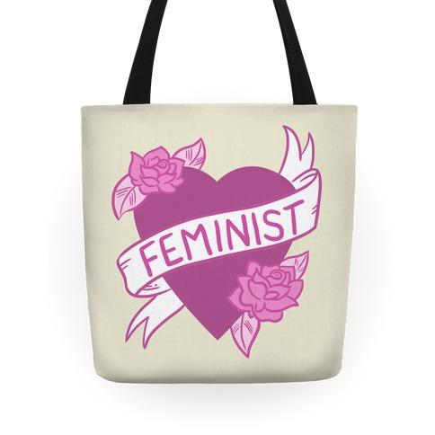 Feminist Heart Tote
