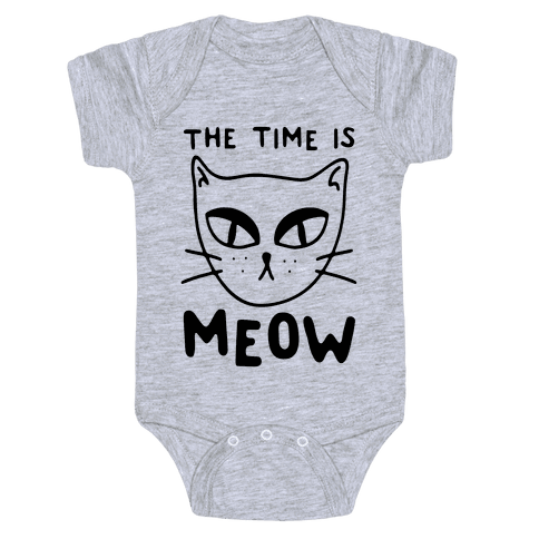 The Time Is Meow Baby Onesy