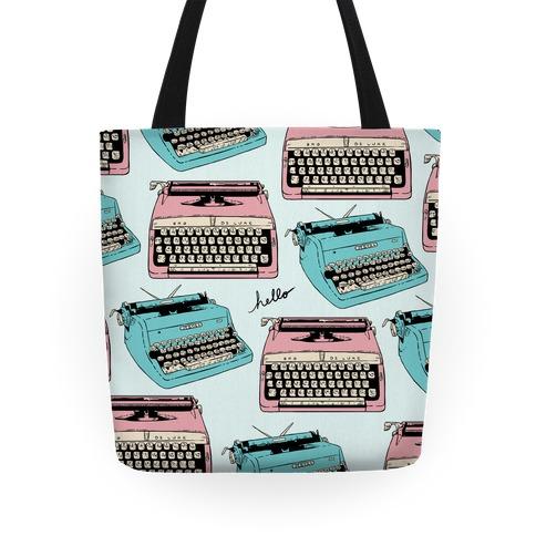 Typewriter Pattern Tote