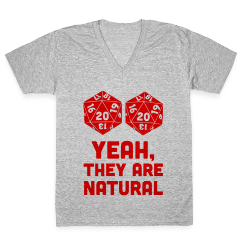 Yeah, They are Natural V-Neck Tee Shirt