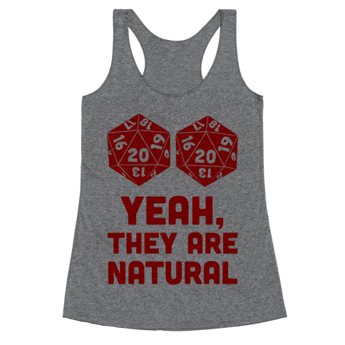 Yeah, They are Natural Racerback Tank Top