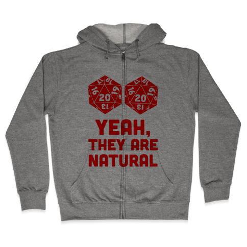 Yeah, They are Natural Zip Hoodie