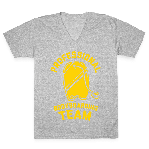 Professional Body Boarding Team V-Neck Tee Shirt
