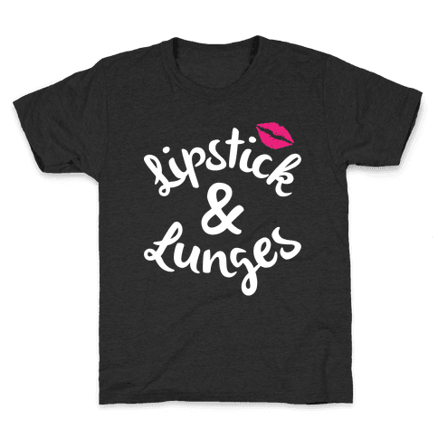 Lipstick And Lunges Kids T-Shirt