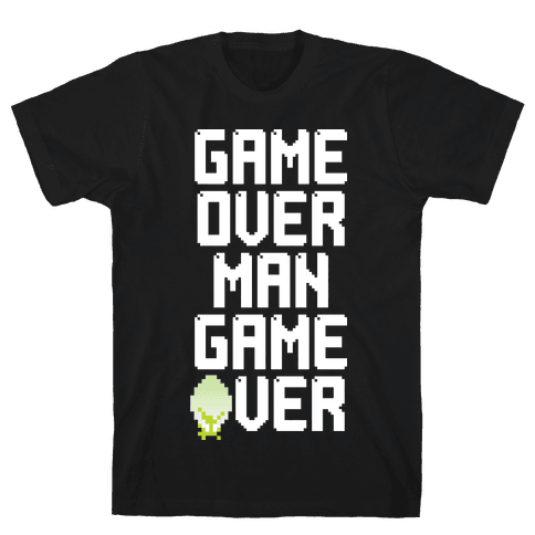 Game Over Man Mens T-Shirt