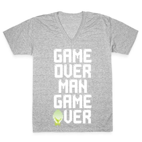 Game Over Man V-Neck Tee Shirt