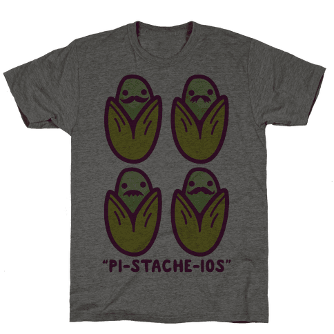 Pistachios with Mustaches Mens T-Shirt