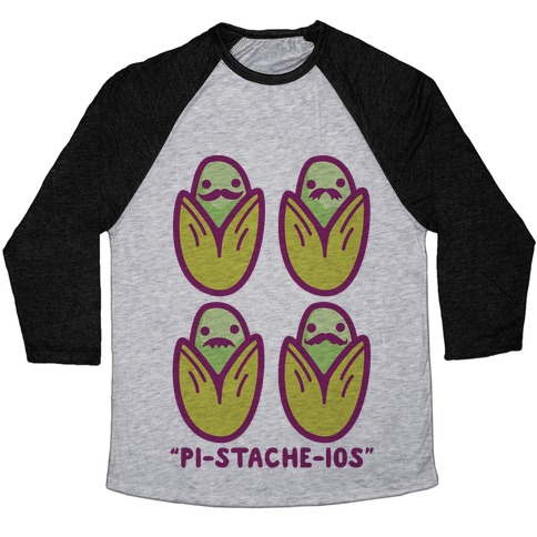 Pistachios with Mustaches Baseball Tee