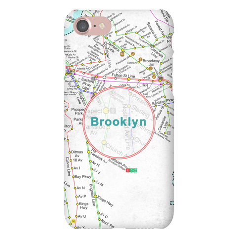 Brooklyn Transit Map Phone Case