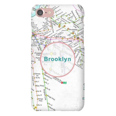 Brooklyn Transit Map Phone Case