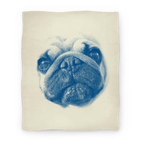 Pug Face Blanket
