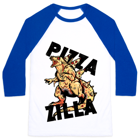 Pizza-Zilla Baseball Tee
