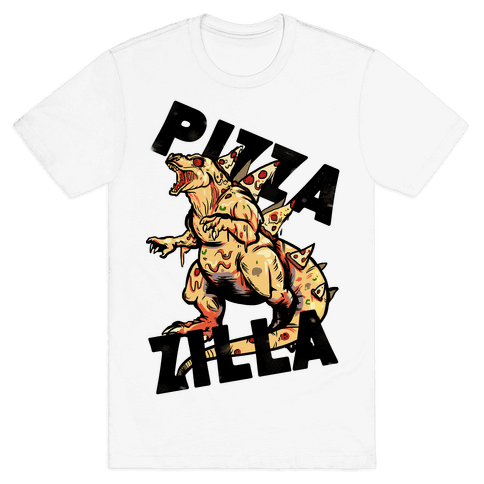 Pizza-Zilla Mens T-Shirt