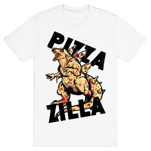 Pizza-Zilla Mens T-Shirt