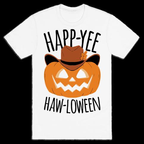 Happ-YEE HAW-loween Mens/Unisex T-Shirt