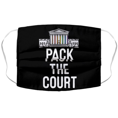 Pack The Court with Pride Accordion Face Mask