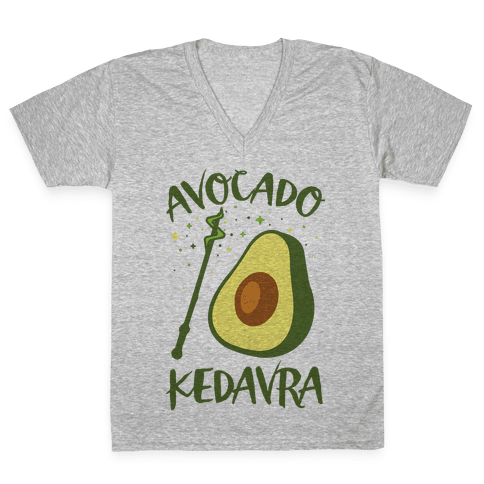 Avocado Kedavra V-Neck Tee Shirt