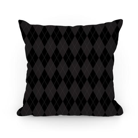 Black Argyle Pillow