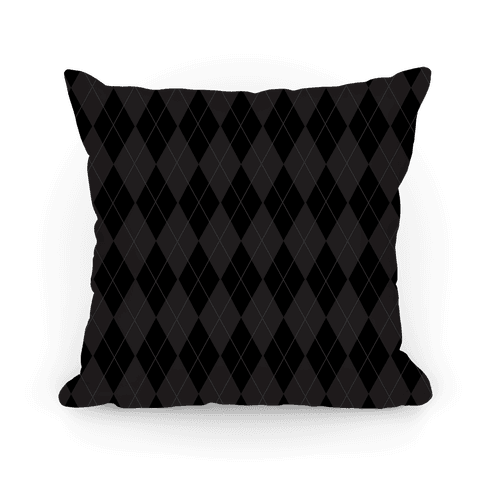 Black Argyle Pillow