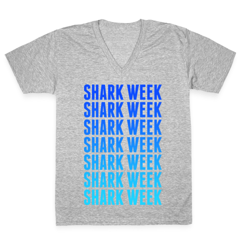 Shark Week V-Neck Tee Shirt