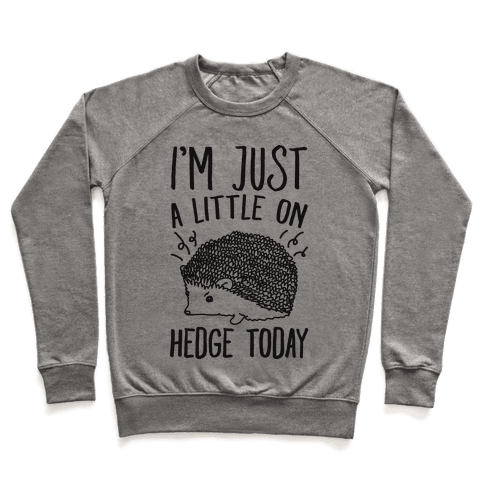 I'm Just A Little On Hedge Today Pullover