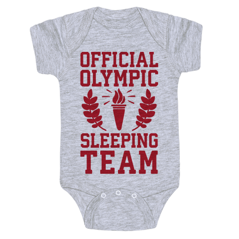 Official Olympic Sleeping Team Baby Onesy