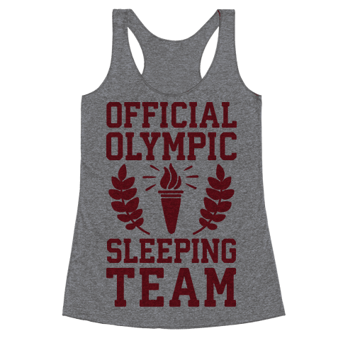 Official Olympic Sleeping Team Racerback Tank Top