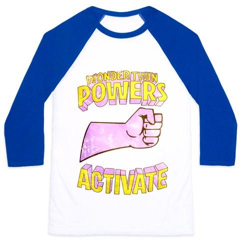 Wonder Twin Powers Activate 1 Baseball Tee