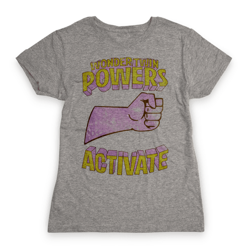 Wonder Twin Powers Activate 1 Womens T-Shirt