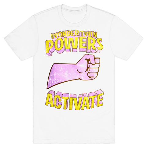 Wonder Twin Powers Activate 1 Mens T-Shirt
