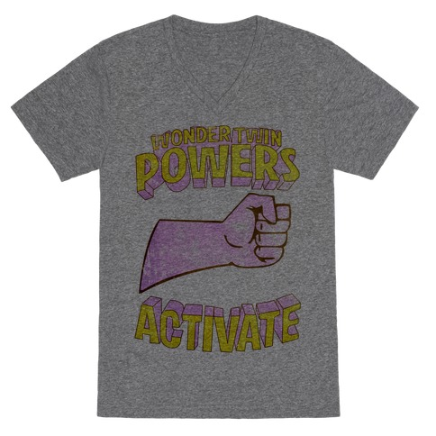 Wonder Twin Powers Activate 1 V-Neck Tee Shirt