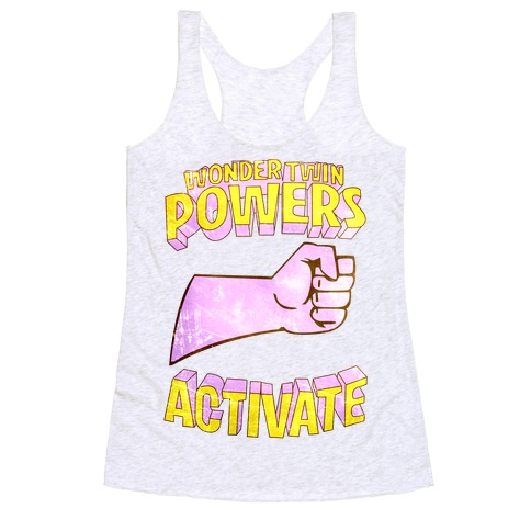 Wonder Twin Powers Activate 1 Racerback Tank Top