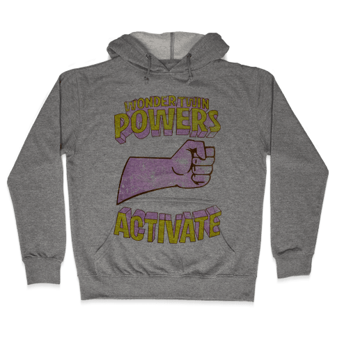 Wonder Twin Powers Activate 1 Hooded Sweatshirt