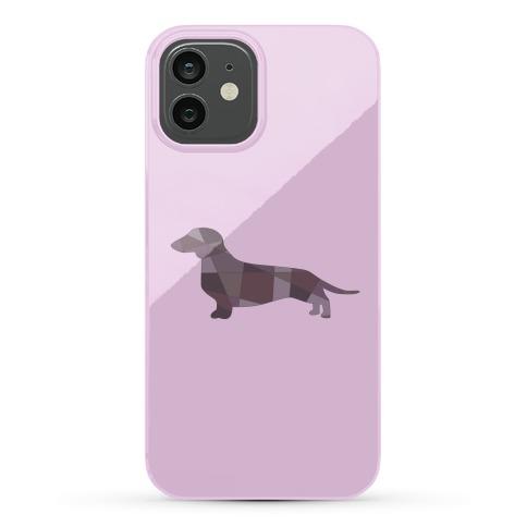 Geometric Wiener Dog Phone Case