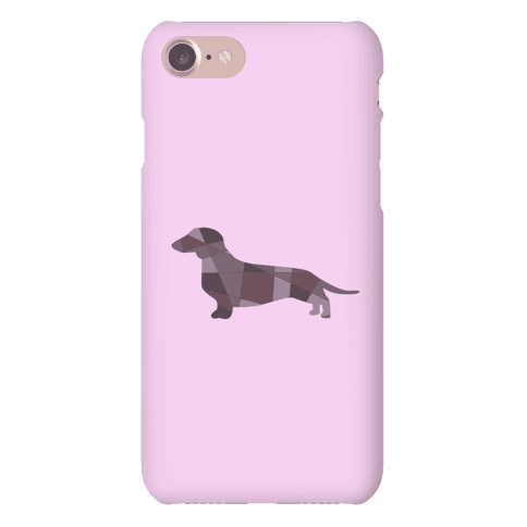 Geometric Wiener Dog Phone Case
