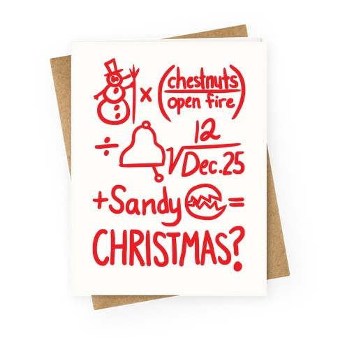 Christmas Equation Greeting Card