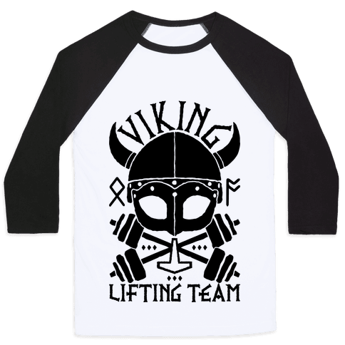 Viking Lifting Team Baseball Tee