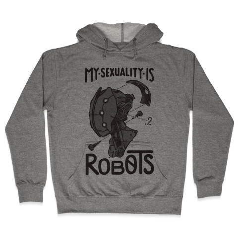 My Sexuality is Robots Hooded Sweatshirt