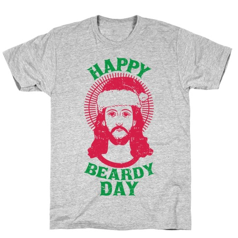Happy Beardy Day Mens/Unisex T-Shirt