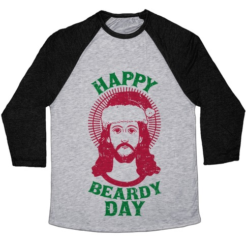 Happy Beardy Day Baseball Tee