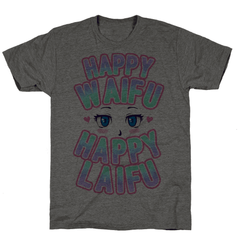 Happy Waifu Happy Laifu Mens T-Shirt