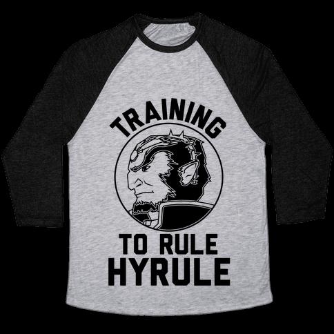 Training To Rule Hyrule Baseball Tee
