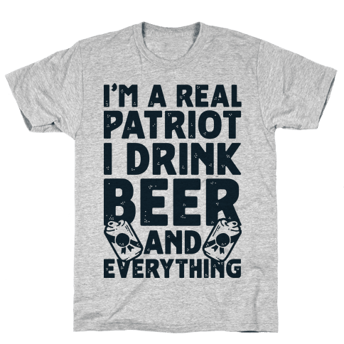Real Patriot  Mens T-Shirt