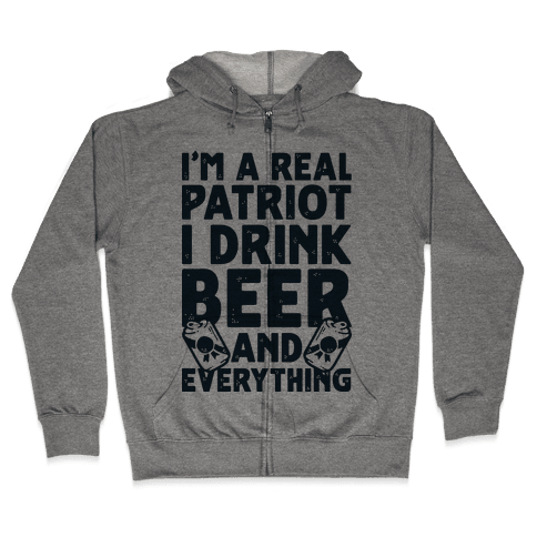 Real Patriot  Zip Hoodie