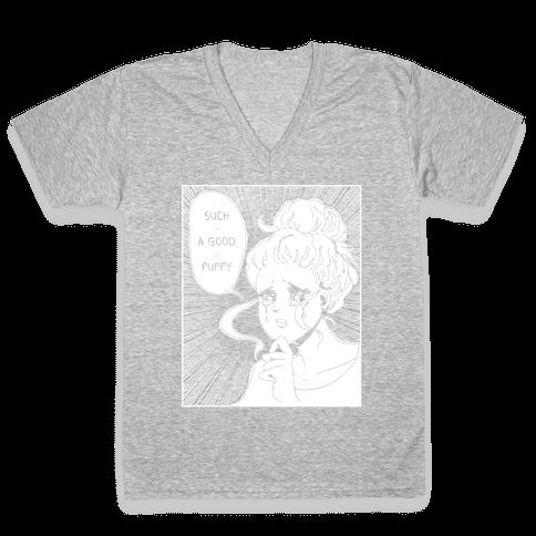 Such A Good Puppy V-Neck Tee Shirt