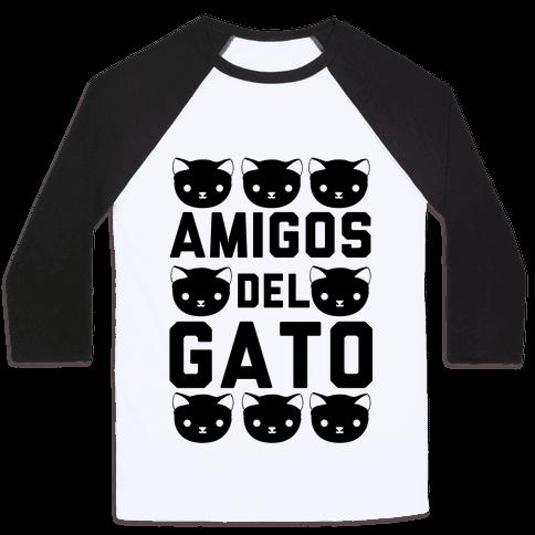 Amigos Del Gato Baseball Tee