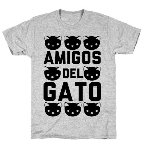 Amigos Del Gato Mens T-Shirt
